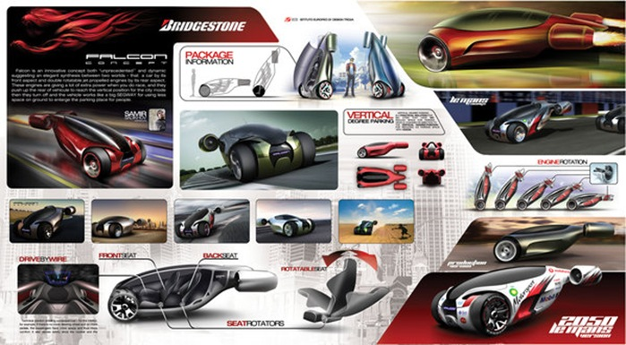 Future Cool Motor Vehicle: Bridgestone Falcon Concept Car