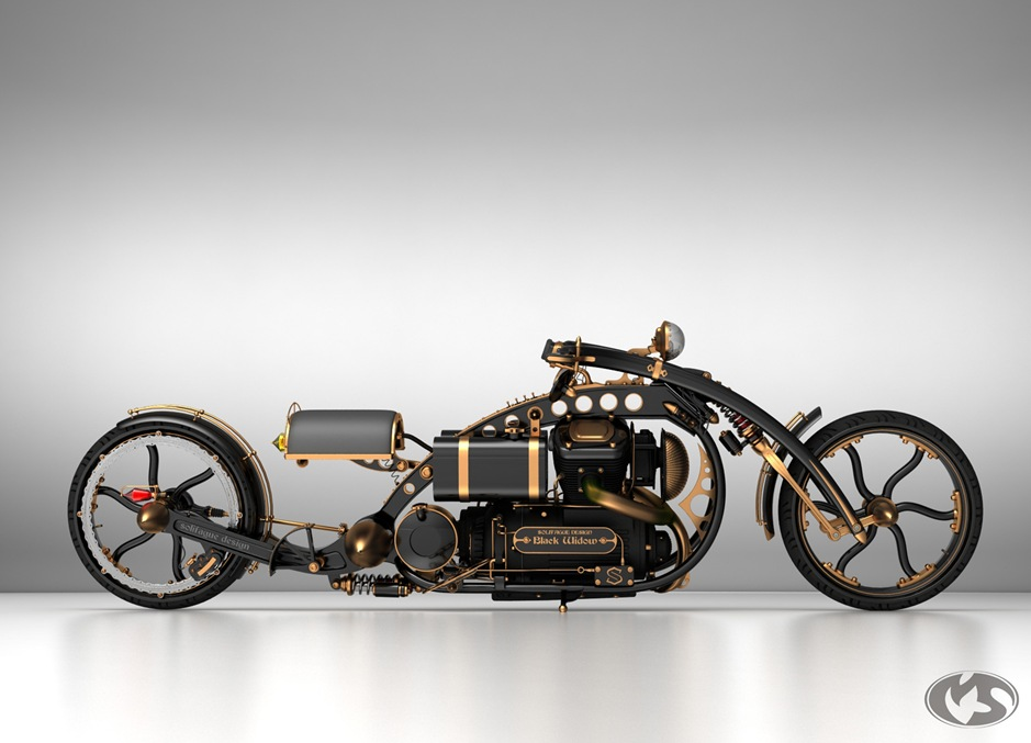 steampunkmotorcycle thumb 9 Seriously Sick Sleds by Solif: Creative Custom Choppers