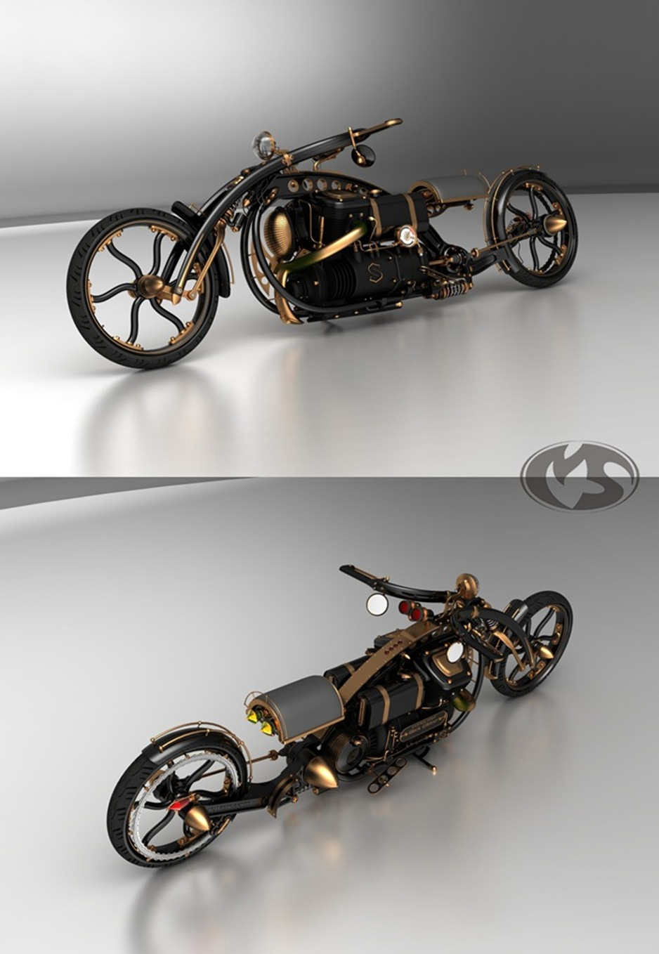 steampunkmotorcycletop thumb1 9 Seriously Sick Sleds by Solif: Creative Custom Choppers