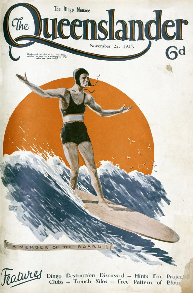 Nostalgic Surfing Flashback: The Dingo Menace, Queenslander Cover 1934