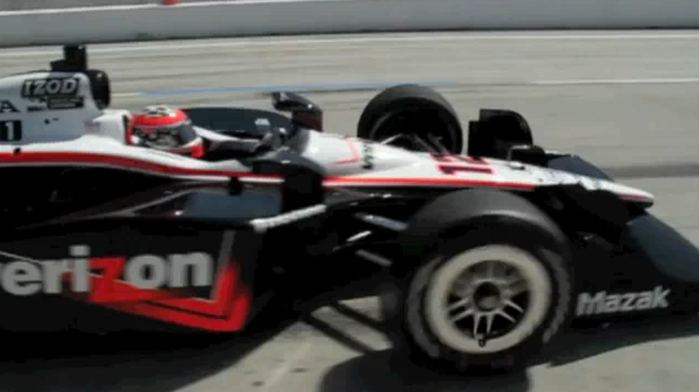 Will Power Coming Out Of Pit Row At The Long Beach Grand Prix